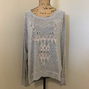 💕Maurices gray long sleeve top. Size XL🛍
